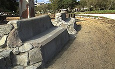 Visitors to Los Sauces park in Tijuana can rest on benches made of trash harv...