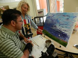 Bounds inspires people to be creative by painting.