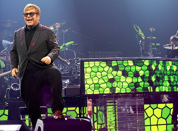 Legendary artist Elton John returns to the stage in a con...