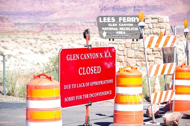 Lees Ferry at Glen Canyon was closed Tuesday due to the government shutdown. ...