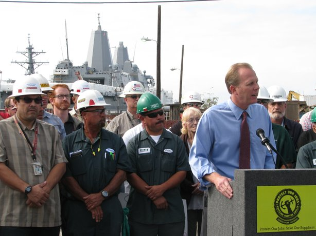 San Diego City Councilman Kevin Faulconer supports the referendum of the Barr...