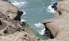 The entrance to sea lion cove or La Lobera, San Quintin, Baja California, Mexico.