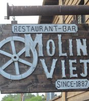 The sign outside Molino Viejo Restaurant & Bar, San Quintin, Baja California, Mexico.