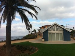 Fletcher Cove Community Center in Solana Beach, overlooking the ocean and an ideal spot for public and private events. But it is in a residential neighborhood and has generated heated controversy over how often to allow events where alcohol is served.