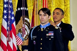 President Obama awards retired Army Capt. William Swenson the Medal of Honor.