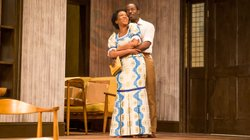 "Jessica Frances Dukes and Charlie Hudson, III, in CENTERSTAGE's production of ""Beneatha's Place"" by Kwame Kwei-Armah, directed by Derrick Sanders."