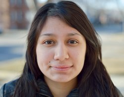 Stephanie lives with her family, who emigrated from El Salvador, in Chicago.