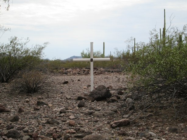 This summer the Maricopa County Sheriff's Office began to erect crosses marke...