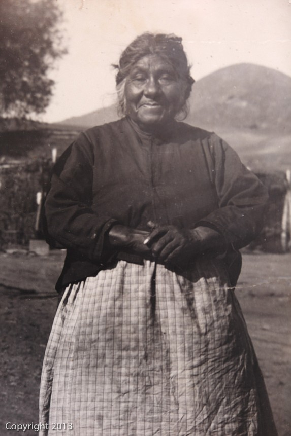Isabelle Thing, Jane Dumas' mother, was a well known Kumeyaay Indian traditio...