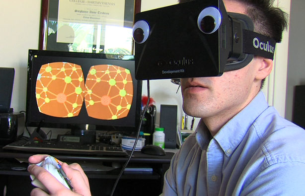 Googly eyes do not come standard on Oculus Rift developer kits.