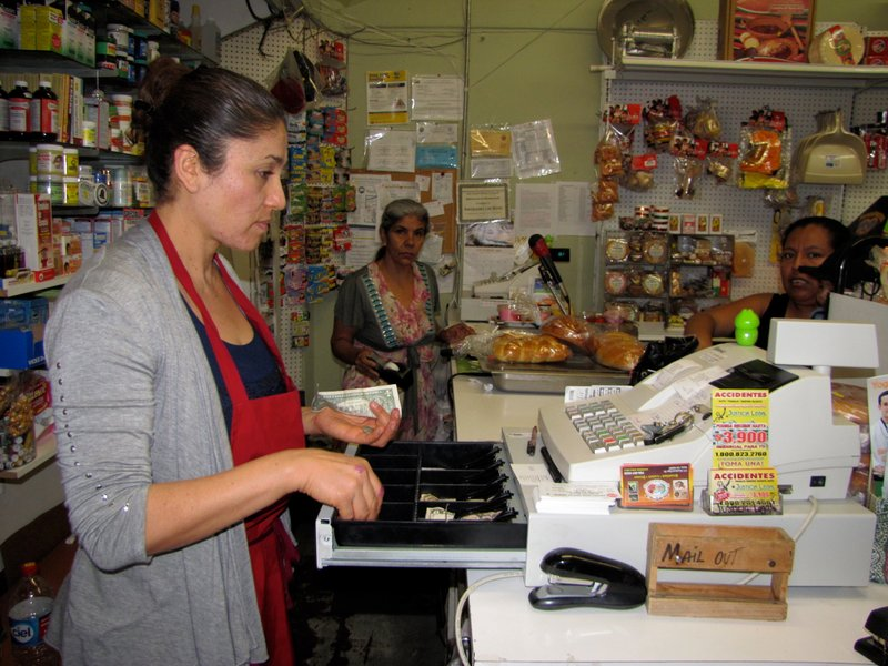 Maria Reyes helps run a bustling family business in downtown Vista. Nearly ha...