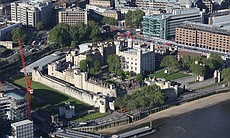Aerial top shot of Tower site.