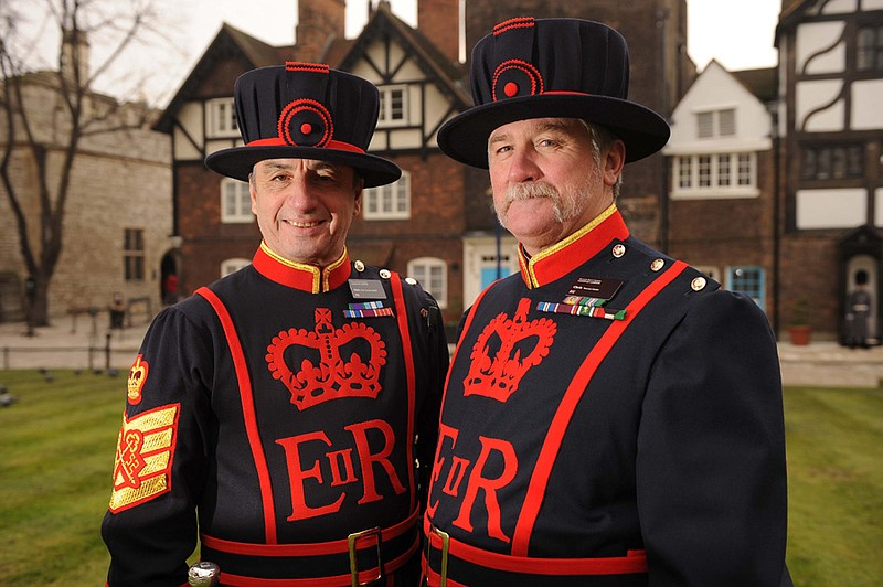 Chief Yeoman Warder Alan Kingshott and Yeoman Gaoler Chris Morton.