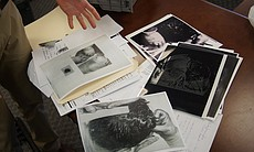 Copies of JFK autopsy photos.