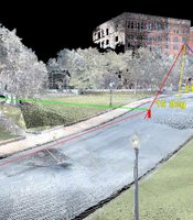 Using 3D laser technology, NOVA creates a virtual scan of the crime scene at Dealey Plaza in Dallas to analyze and measure the multiple trajectories if gunshots were fired from various vantage points--including the Book Depository and the Grassy Knoll.