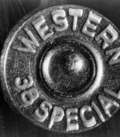 A Western 38 Special stamp marks a bullet used in forensics tests during the Kennedy assassination investigation. The bullet was submitted as evidence to the House Select Committee in the late 1970s when the investigation was reopened.