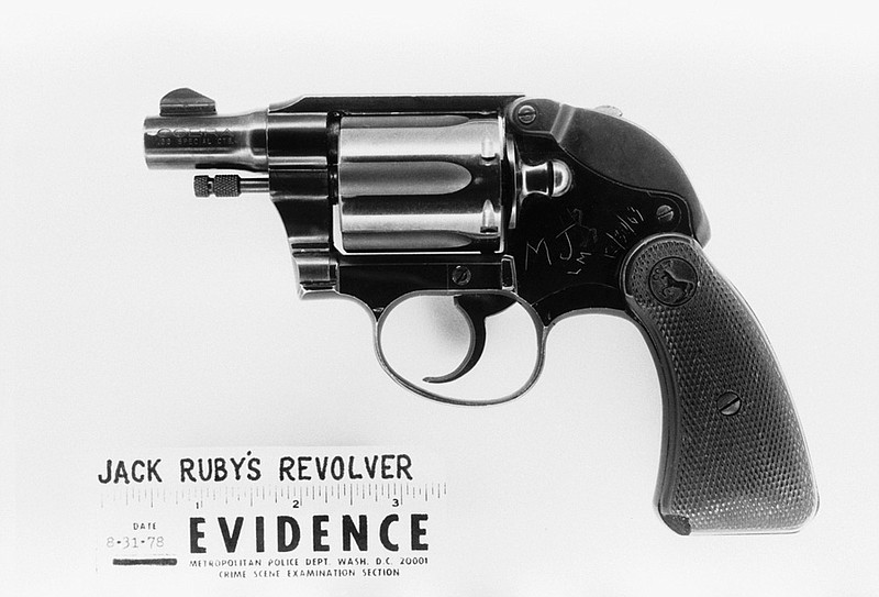 The revolver used by Jack Ruby to assassinate Lee Harvey Oswald during a pres...
