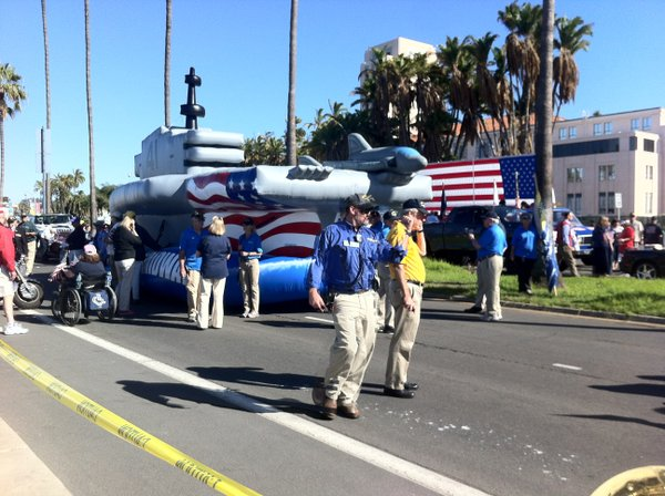 The 27th annual Veterans Day Parade in downtown San Diego...