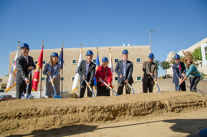 Campus officials have broken ground for the school's first stand-alone vetera...