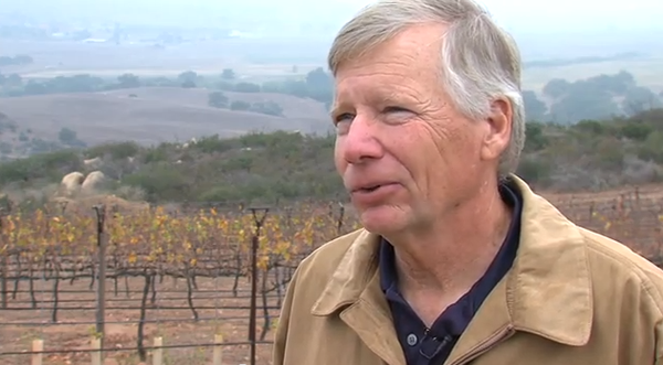 Bill Schweitzer, a pioneer of Ramona's wine region, owns Paccielo Vineyard.