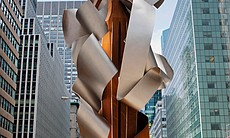 "Albert Paley, ""Encore,"" 2013, one of 13 sculptures mounted on Park Avenue in New York City."