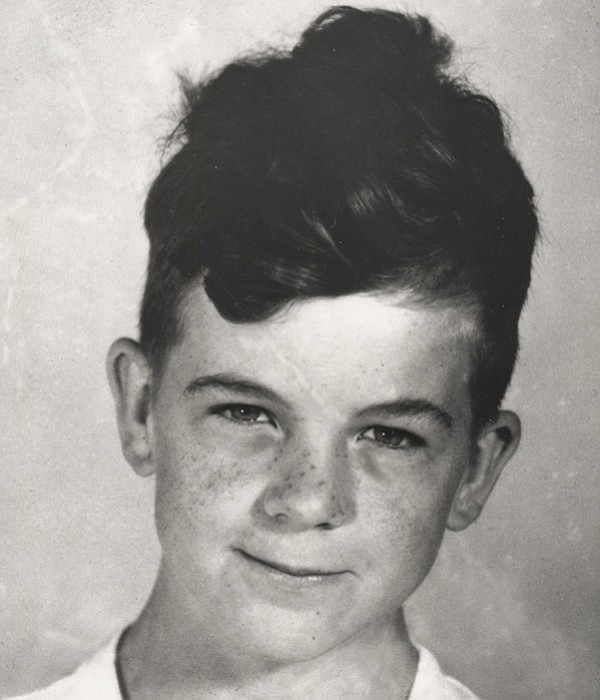 Lee Harvey Oswald as a young boy, at age 8 or 9.