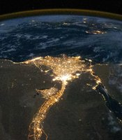 Air glow phenomena and the Nile Delta seen from the ISS, from NASA time-lapse footage.