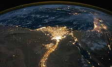 Air glow phenomena and the Nile Delta seen from the ISS, from NASA time-lapse...