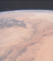 The Sahara seen from the ISS.