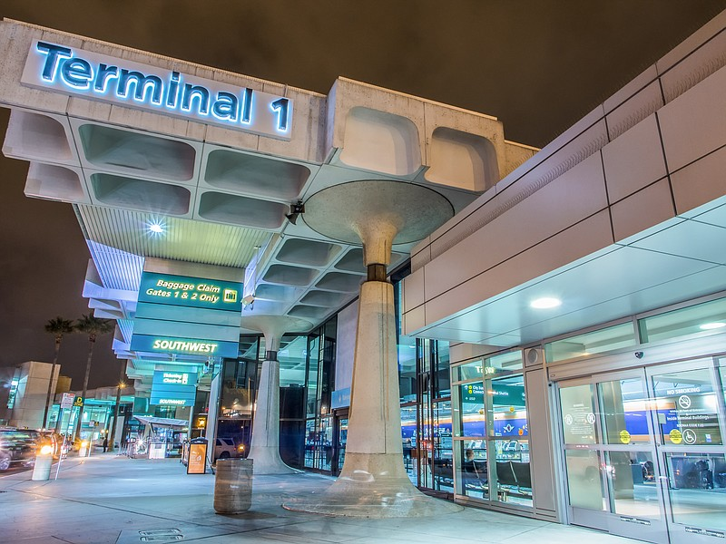 The view of Terminal 1 at San Diego Airport, as seen by photographer David Th...