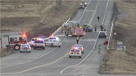 Fatal car accident that took the lives of two Airmen on Nov. 20, 2013.
