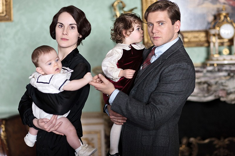 Michelle Dockery as Lady Mary and Allen Leech a... ()