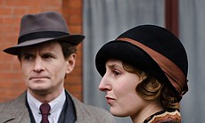 Charles Edwards as Michael Gregson and Laura Carmichael as Lady Edith.