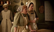Lesley Nicol as Mrs. Patmore and Sophie McShera... (32405)