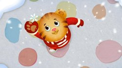 Daniel Tiger sees a snowflake. In this thirty-minute holiday musical episode,...