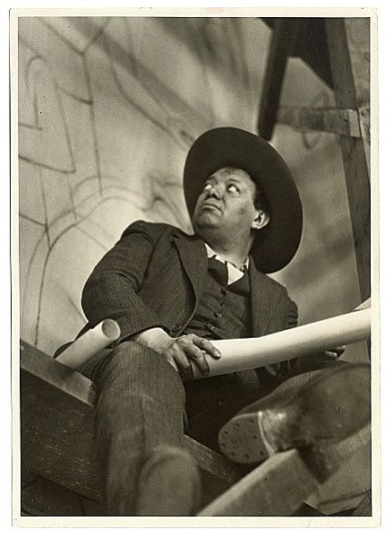 Mexican muralist Diego Rivera, whom Kahlo married twice, ...