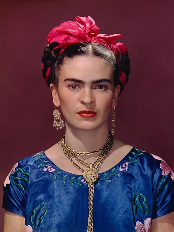 The portrait of Frida Kahlo used on the exhibit's adverti...