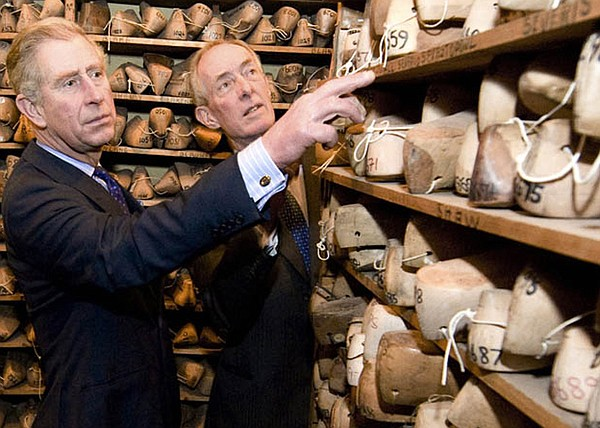 Charles, Prince of Wales with craftsman featured in