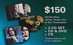 "Join or renew at the $150 level during our Membership Campaign and you'll receive the ""Carole King - Tapestry"" (Legacy Edition) 2-CD set. This gift also includes enrollment in the myKPBS Savers Club plus additional online access to more than 130,000 merchant offers and printable coupons, as well as a KPBS License Plate Frame (if you're a new member)."