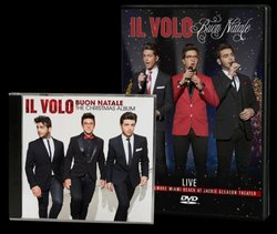 """Give at the $125 level and receive the """"Il Volo Buon Natale: The Christmas Album"""" CD & DVD. This gift also includes enrollment in the myKPBS Savers Club plus additional online access to more than 130,000 merchant offers and printable coupons, as well as a KPBS License Plate Frame (if you're a new member). The CD only is available at the $65 level, and they DVD only at $90."""