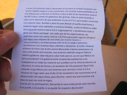 """So that we can reunite with our children, families,"" the flier read in small, Spanish text. ""And for those who want the American dream and so that we can help our families succeed,"" the flier continued in rambling fashion, ending with a call for discretion and ""Sí se puede!"" written three times."