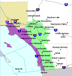 In this Nov. 29, 2013 National Weather Service map, the coastal area colored ...