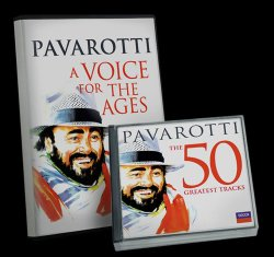 "Give at the $150 level during our membership campaign and receive the ""Pavarotti: A Voice For The Ages"" DVD plus a ""Pavarotti: The 50 Greatest Tracks"" 2-CD set. This gift includes a KPBS License Plate Frame (if you're a new member). The DVD only is available at the $75 level, and the 2-CD set only at $90."