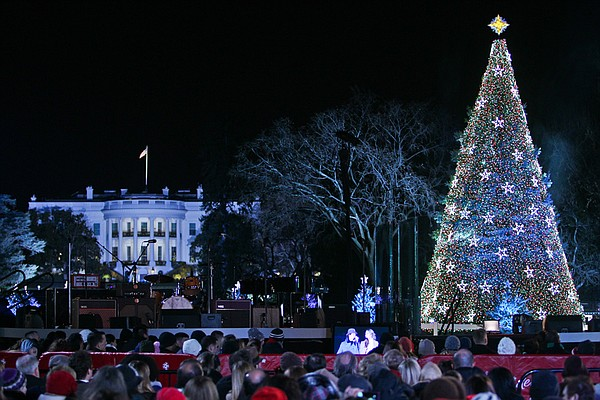 The lighting of the National Christmas Tree on the Ellips...