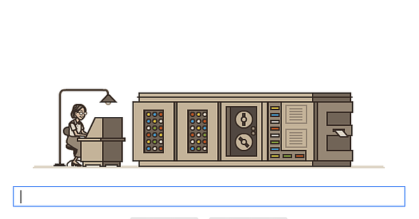Grace Hopper honored in Google Doodle