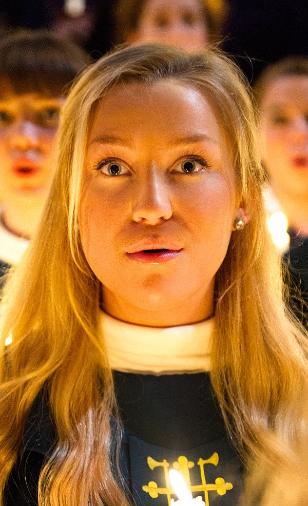 Close up of choir singer. The St. Olaf Choir — which owes its origins and leg...