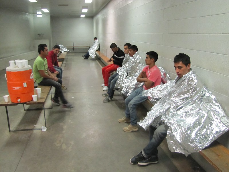About 65 people a day move through this Border Patrol station in Nogales, Ariz.