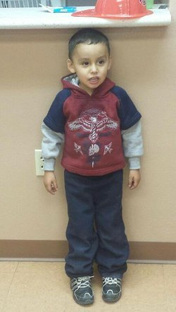 A Border Patrol agent discovered this boy in a desert area near the border fe...