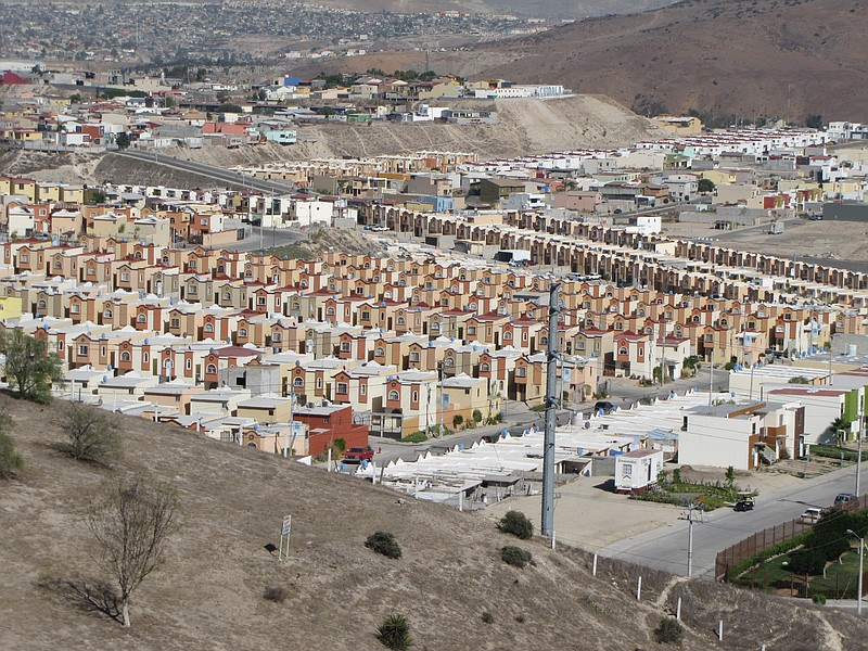 A housing development built on the outskirts of Tijuana is pictured in this u...