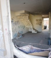 Squatters and delinquents sometimes take over abandoned homes. See more photos of Tijuana's suburbs here.
